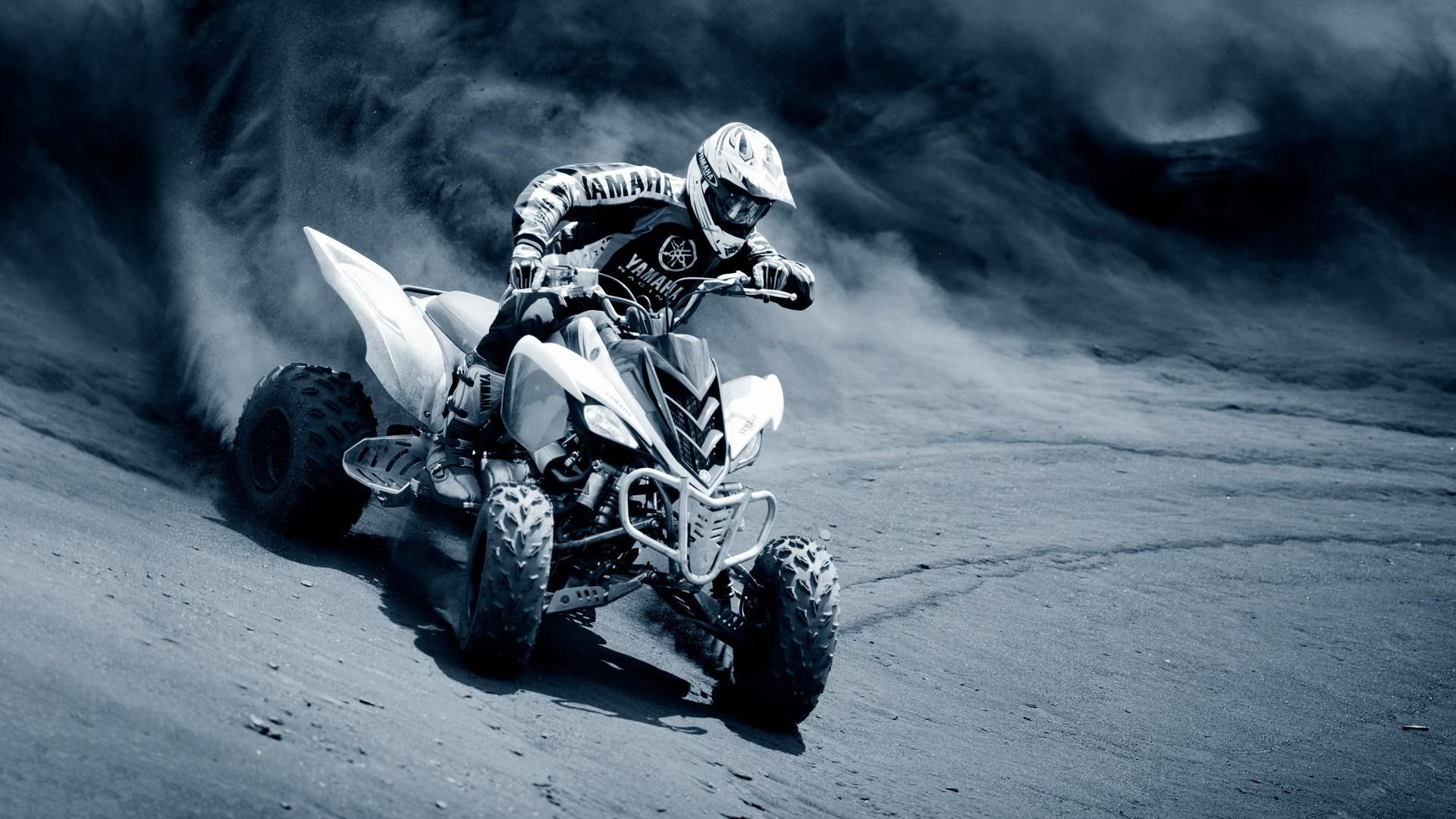 The Two Wheels Can T Stand Out Over This Wether We Can Do More Over The Four One Right Atv Motocross Yamaha Sport Sports Wallpapers