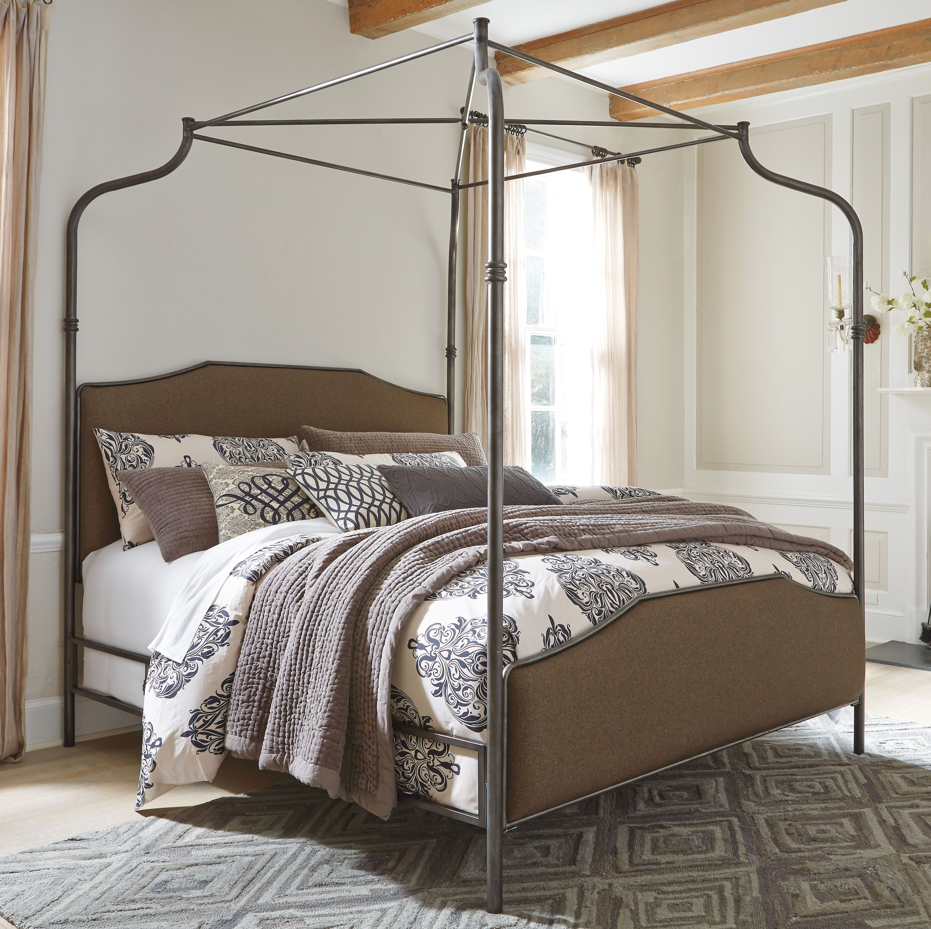 Moriann King Canopy Bed In 2020 Furniture Bed Bed Furniture