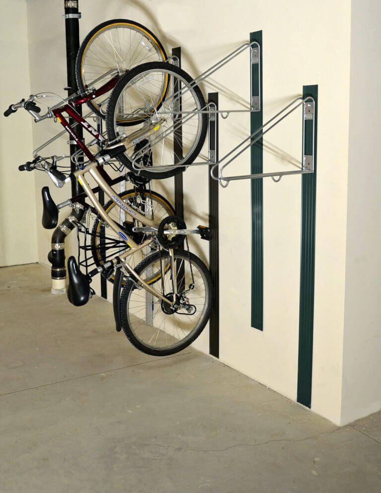 bike wall rack vertical bike room