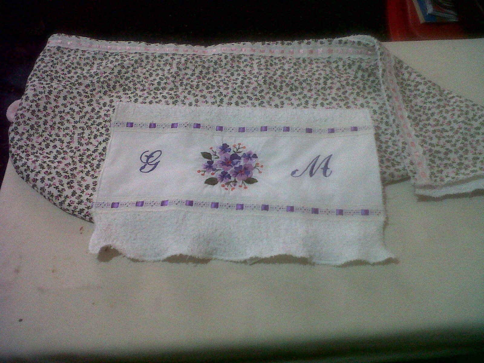 Toalla pequeña y cofia de toalla y tela-2013