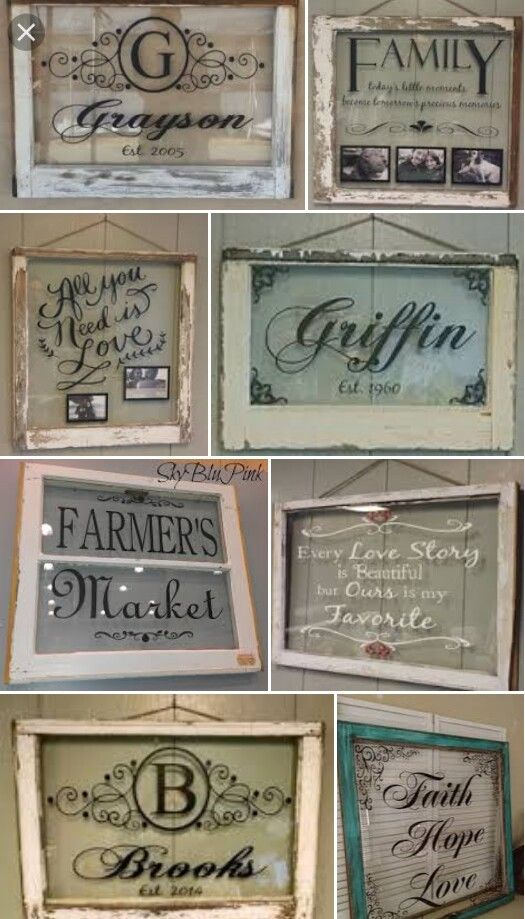 Painted Monograms And Sayings Stencils Old Window