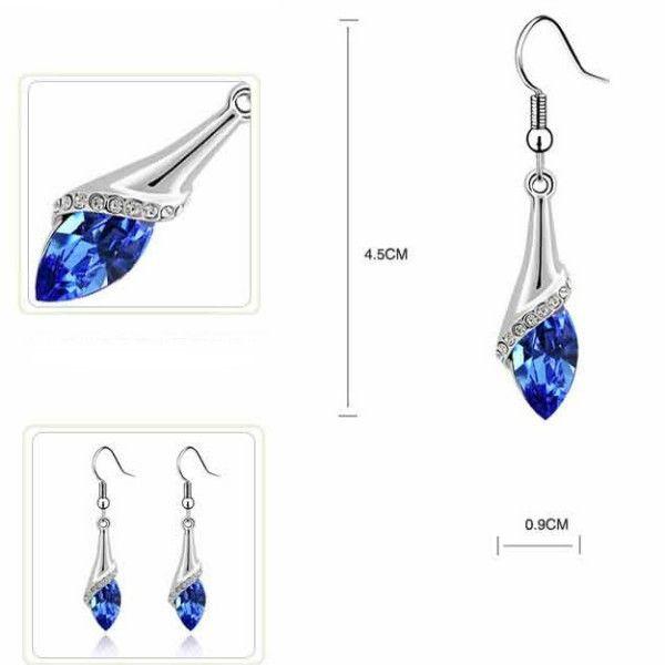 Drop Shape Crystal Earrings