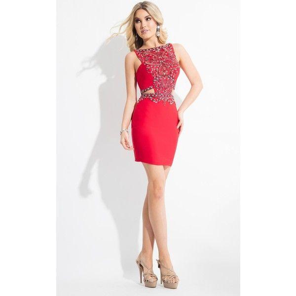 Rachel Allan 4269 After Prom Mini High Neckline Sleeveless ($358 ...