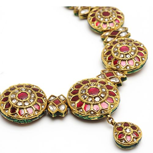 Maharaja Collection Fine Jewelry 22k Gold Kundan Jewelry by