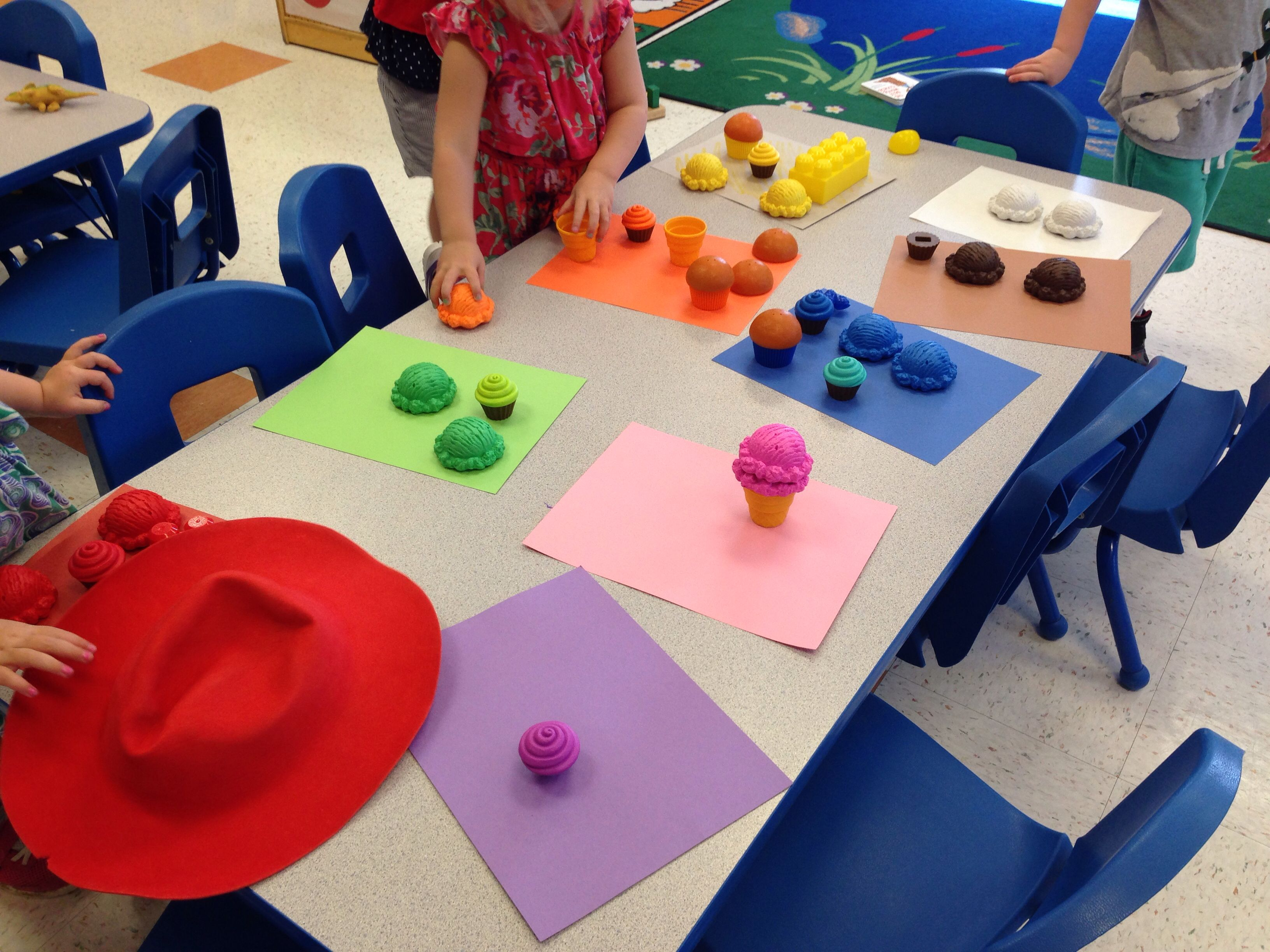 Color Sorting Activity With Toddlers