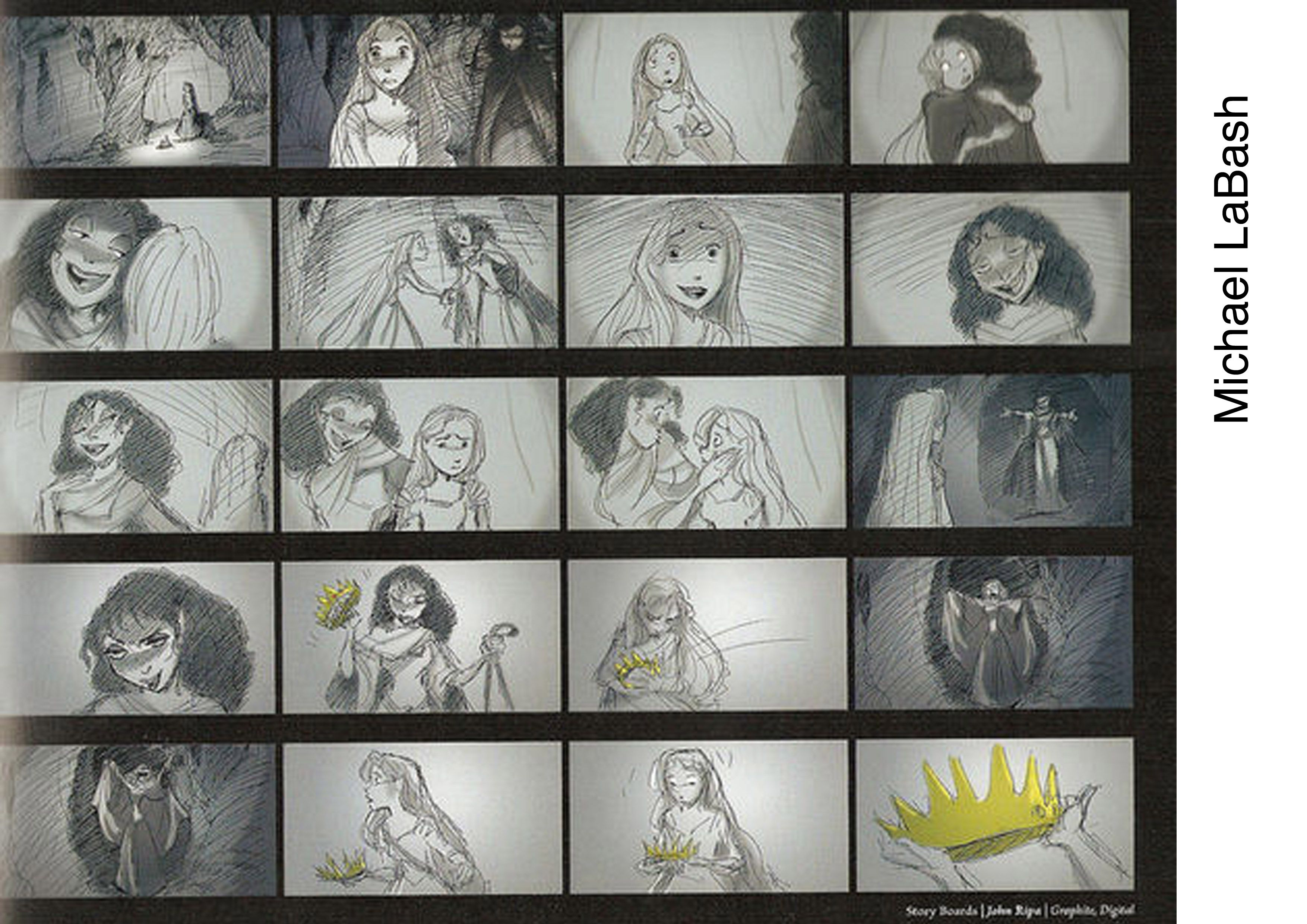 Storyboard For Tangled By Michael Labash  Animation