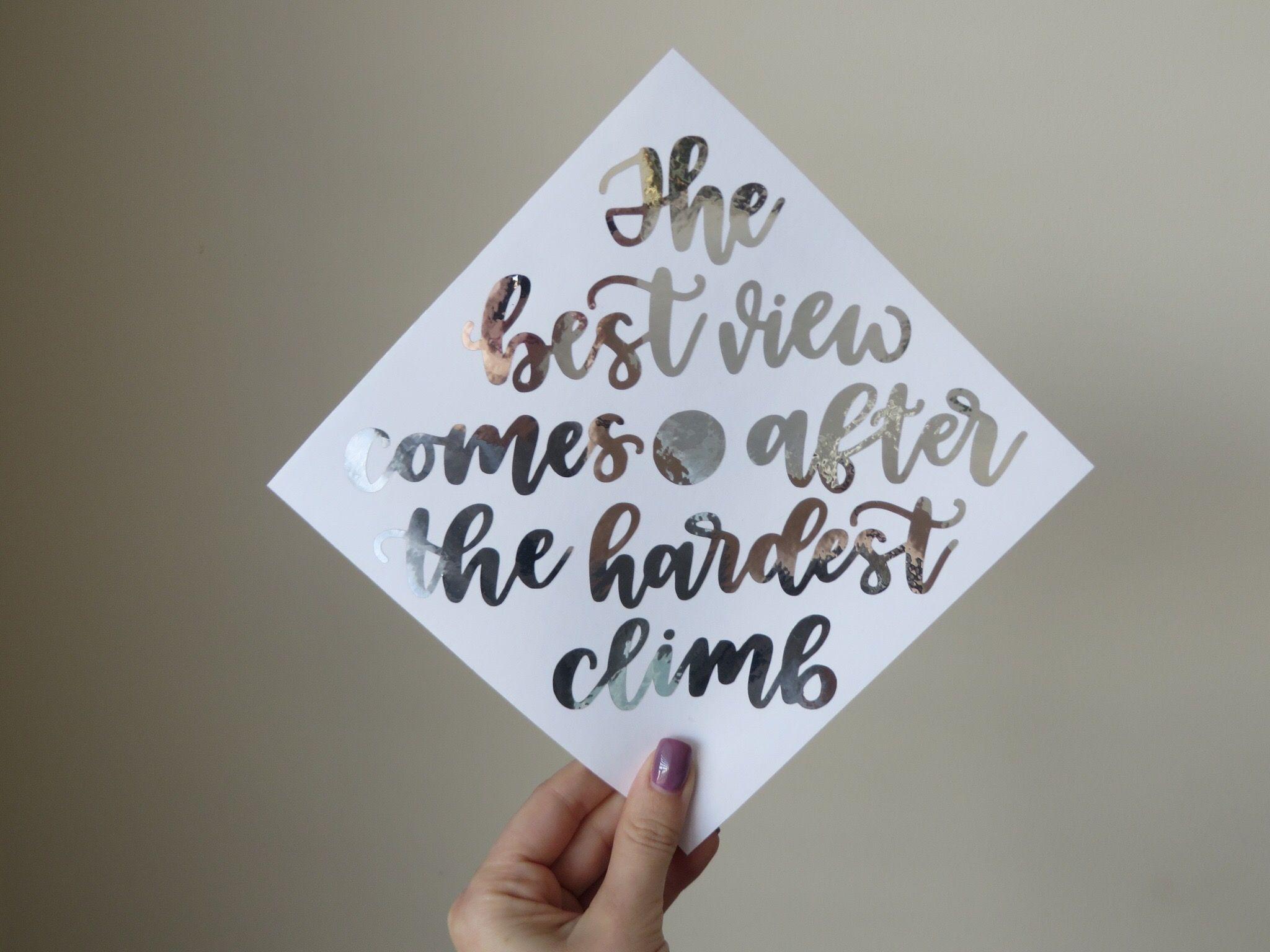 Custom Graduation Cap Calligraphy Decal