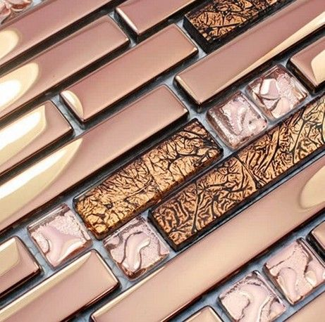 This Would Be Gorgeous With Cooper Rose Gold Cool Tile