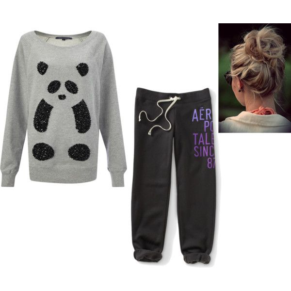 Super cute pajama outfit w/ hair style - Polyvore | sleepy wear D ZzzzZzzz | Pinterest | Pajama ...