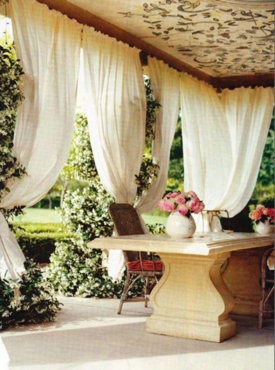 cortinas para terraza Decoracion Pinterest Cortinas, Terrazas