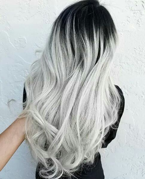 Black And White Hair Styles Grey Ombre Hair Pretty Gray Hair