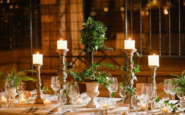 hochzeit lande tisch deko rustikal windlichter rustic wedding