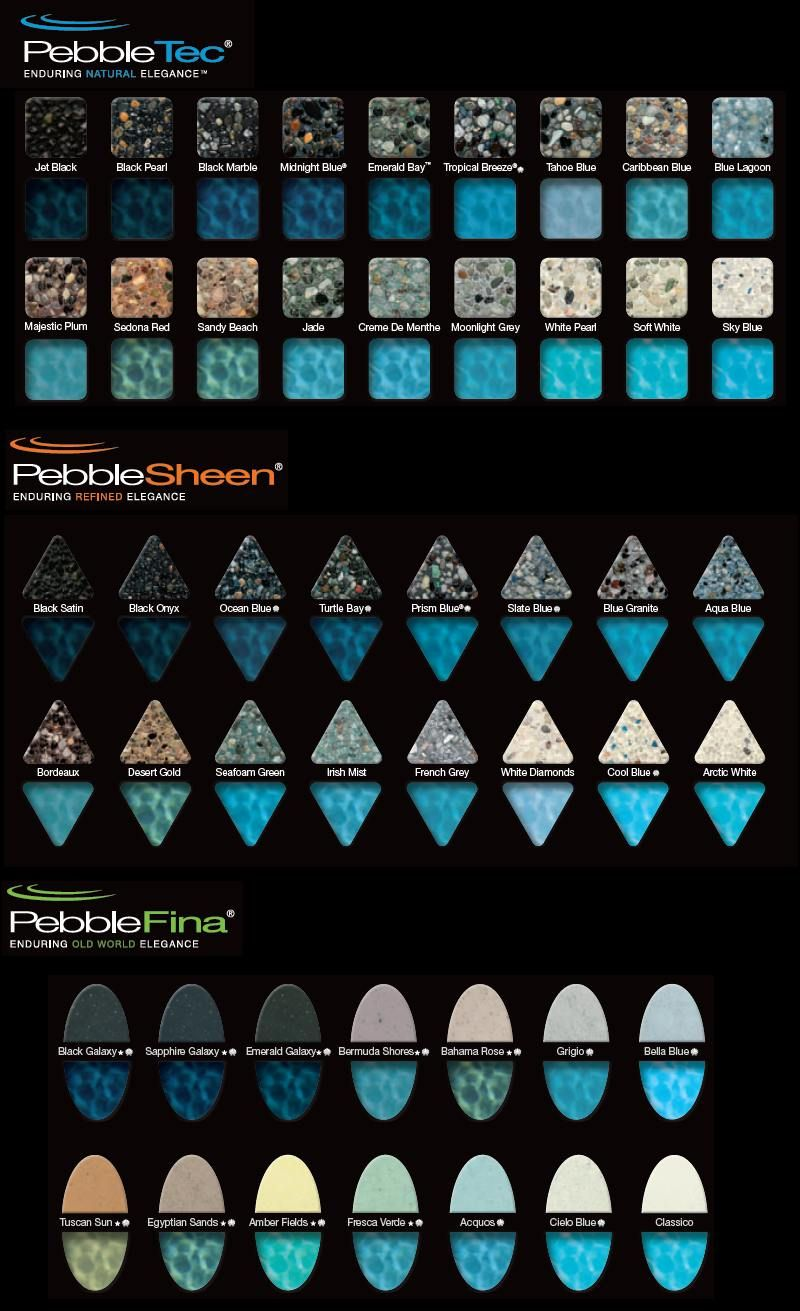 Pool Plaster Colors Sierra Pool Plastering Tile G S Pinterest