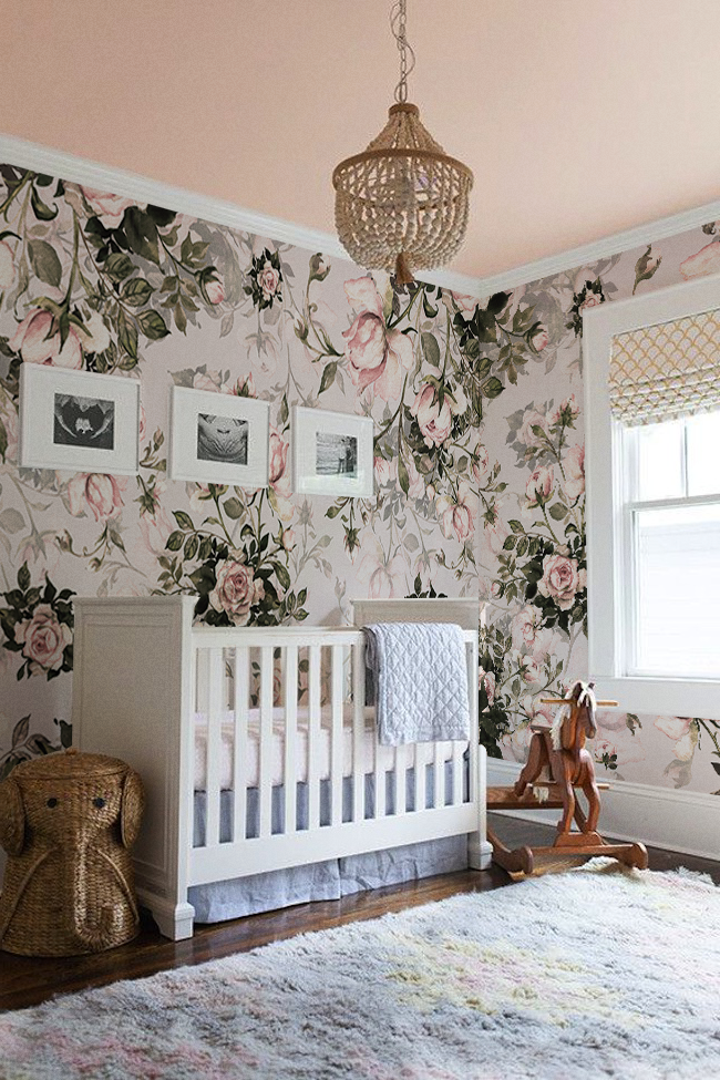 Pale Roses Removable Wallpaper Pinterest Temporary wall covering