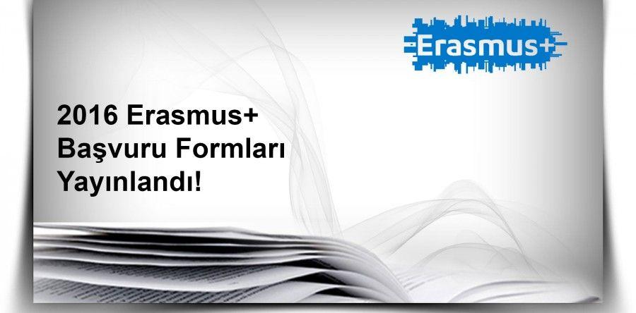 2016 Erasmus+ Başvuru Formları Yayınlandı!