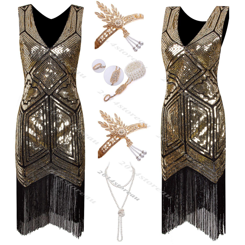 """Vestidos charleston para fiestas. Esto vestidos solían ir cmplementados de el """"Santoir"""" de perlas, collares largos de perlas."""