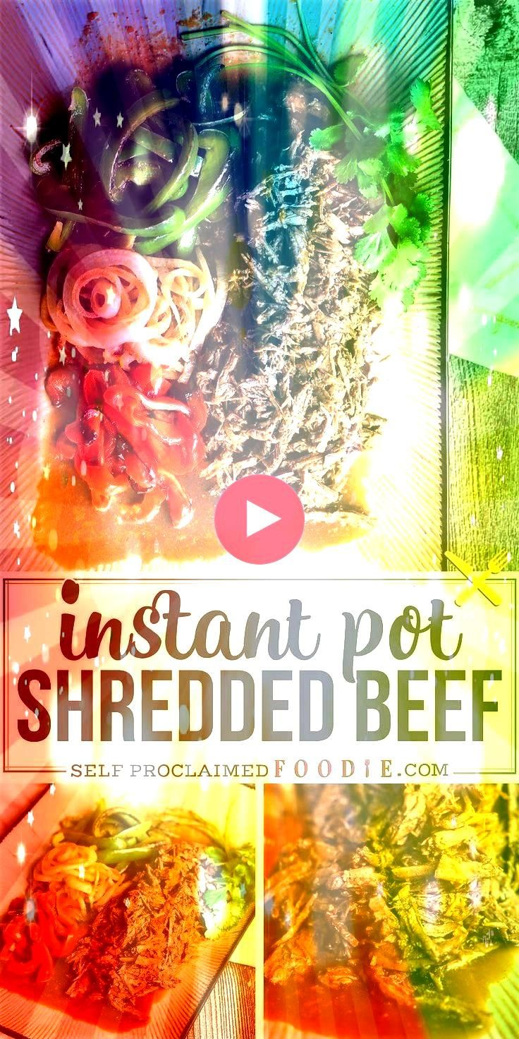 Shredded Beef with peppers and onions is one of the best pressure cooker dinner recipes Transform your chuck roast into this delicious mealInstant Pot Shredded Beef with...
