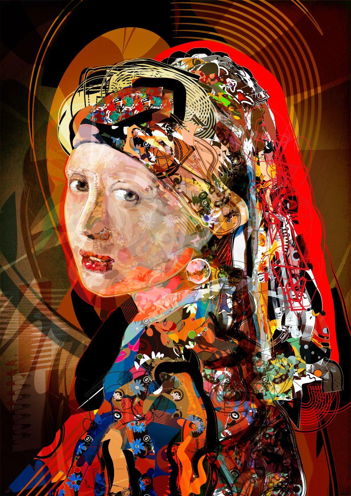 Moca Com Brinco De Perola 10 Poster Cartaz 120x90 Cm 47x35