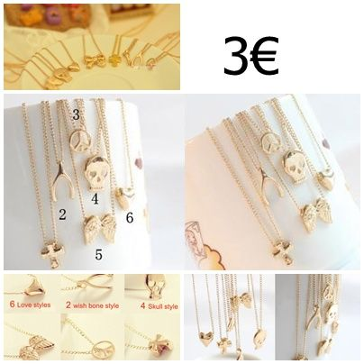 cadenas con colgante dorado