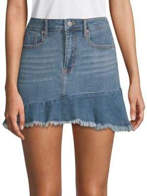 f8e8424ac0 Vigoss Jagger Frayed Denim Mini Skirt   Products in 2019   Denim ...