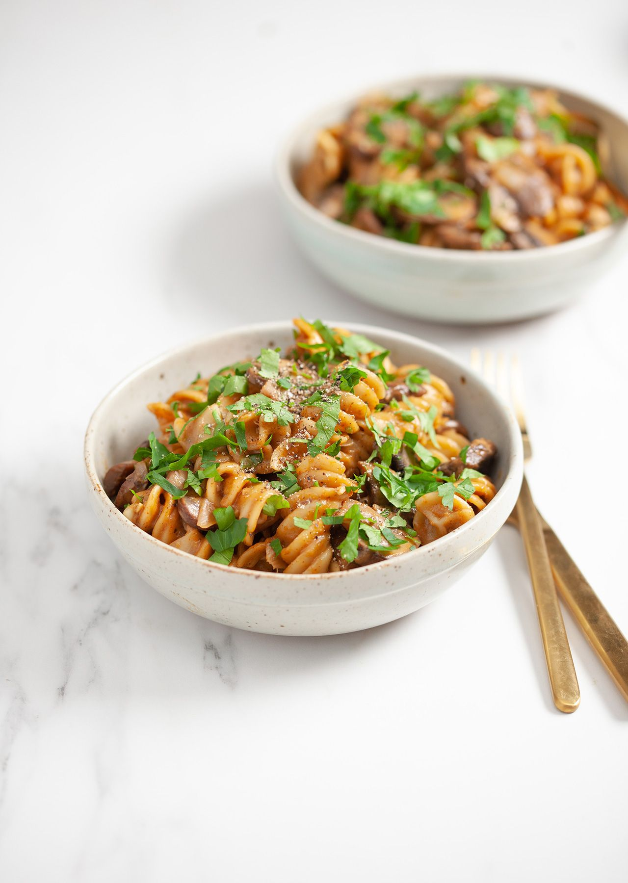 One Pot Mushroom Stroganoff Tasty Pasta Vegan Recipes Stroganoff
