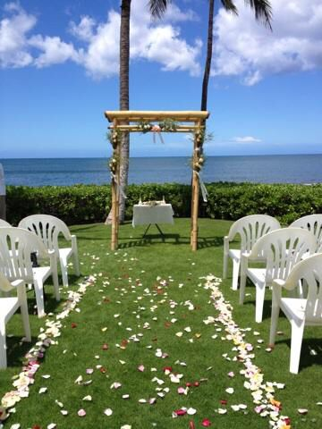 Our Wedding Site The Point Paradise Cove In Ko Olina Hawaii