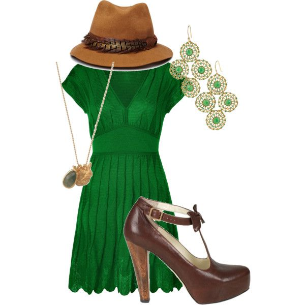 green.  I think those are Stella & Dot earrings too.