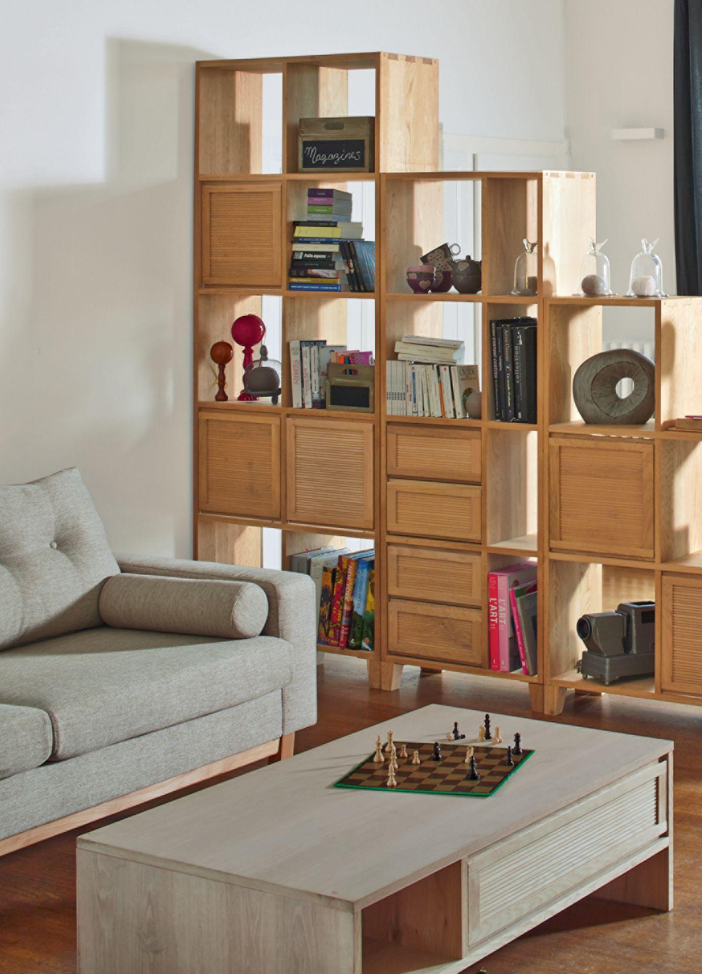 tassia tag re en ch ne forme zig d coration no l d co maison alin a rangement. Black Bedroom Furniture Sets. Home Design Ideas