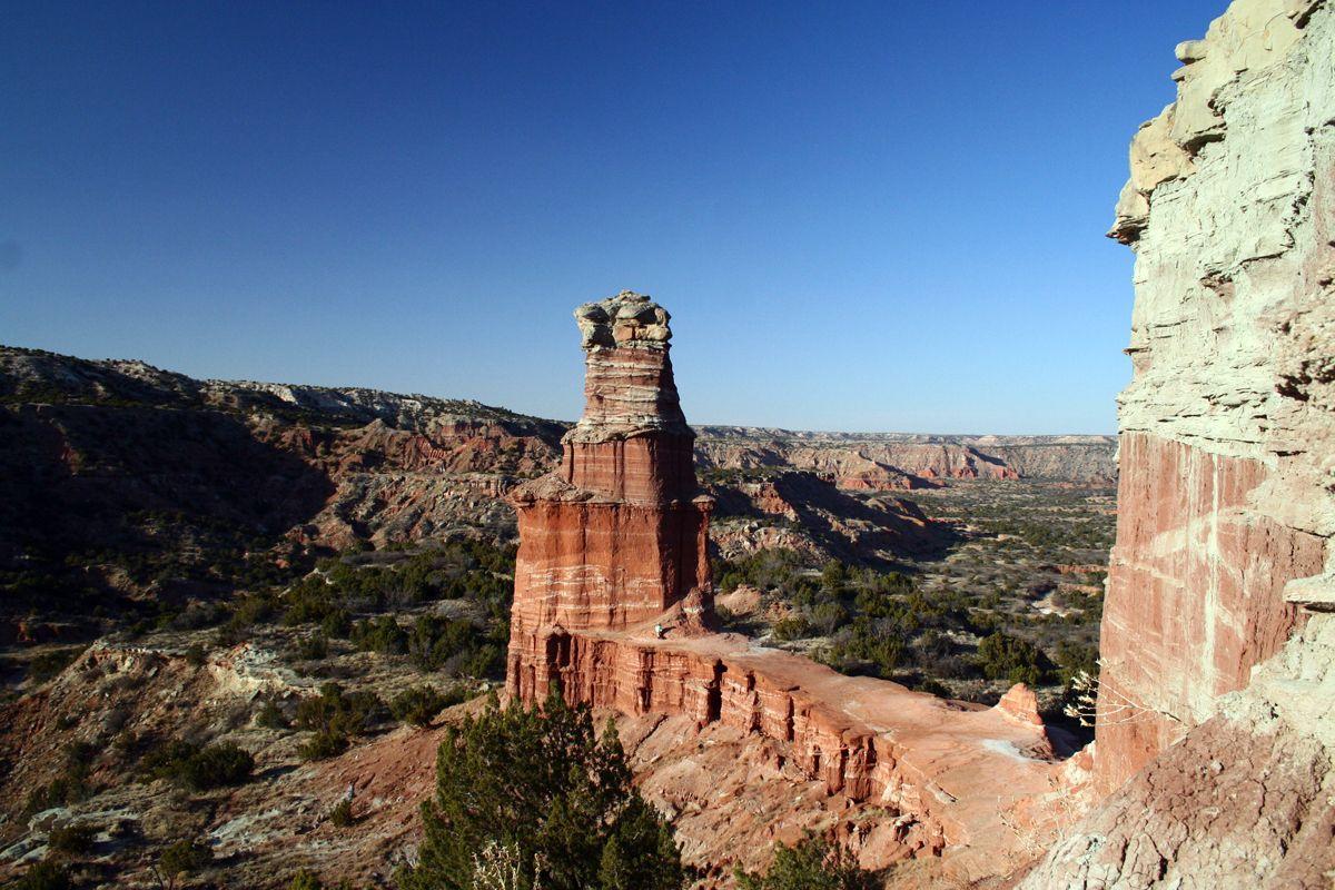 Palo Duro Canyon, near Amarillo, Texas. View of the ...