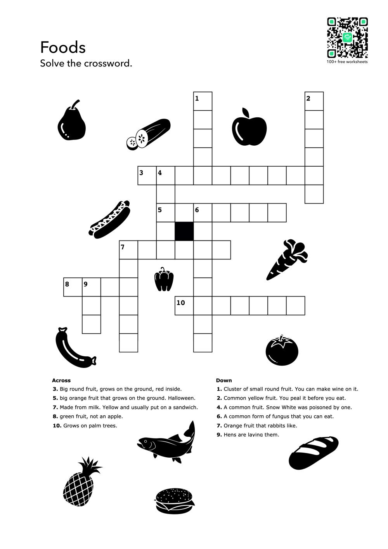 Food Words Exercises English Worksheets English Words Printable English Worksheets Kids English [ 1413 x 1000 Pixel ]