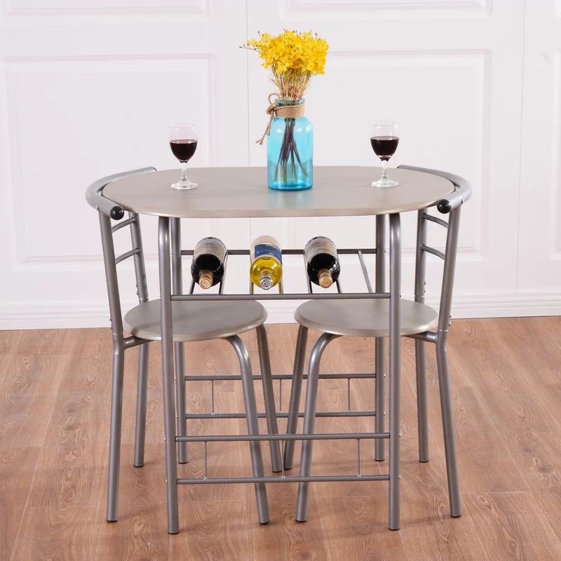 Strock 3 Piece Dining Set In 2020 Small Dining Table Set Kitchen Table Chairs 3 Piece Dining Set