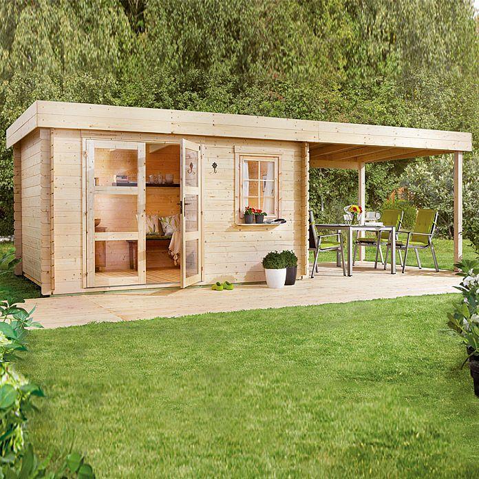 Blockbohlenhaus Lounge 2 Holz Grundflache 14 5 M Wandstarke 28 Mm Blockbohlenhaus Haus Gartenhaus