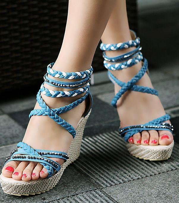 76ea8e497899 Crystal Rocks Luxury Platform Shoes (various colors) HF00650