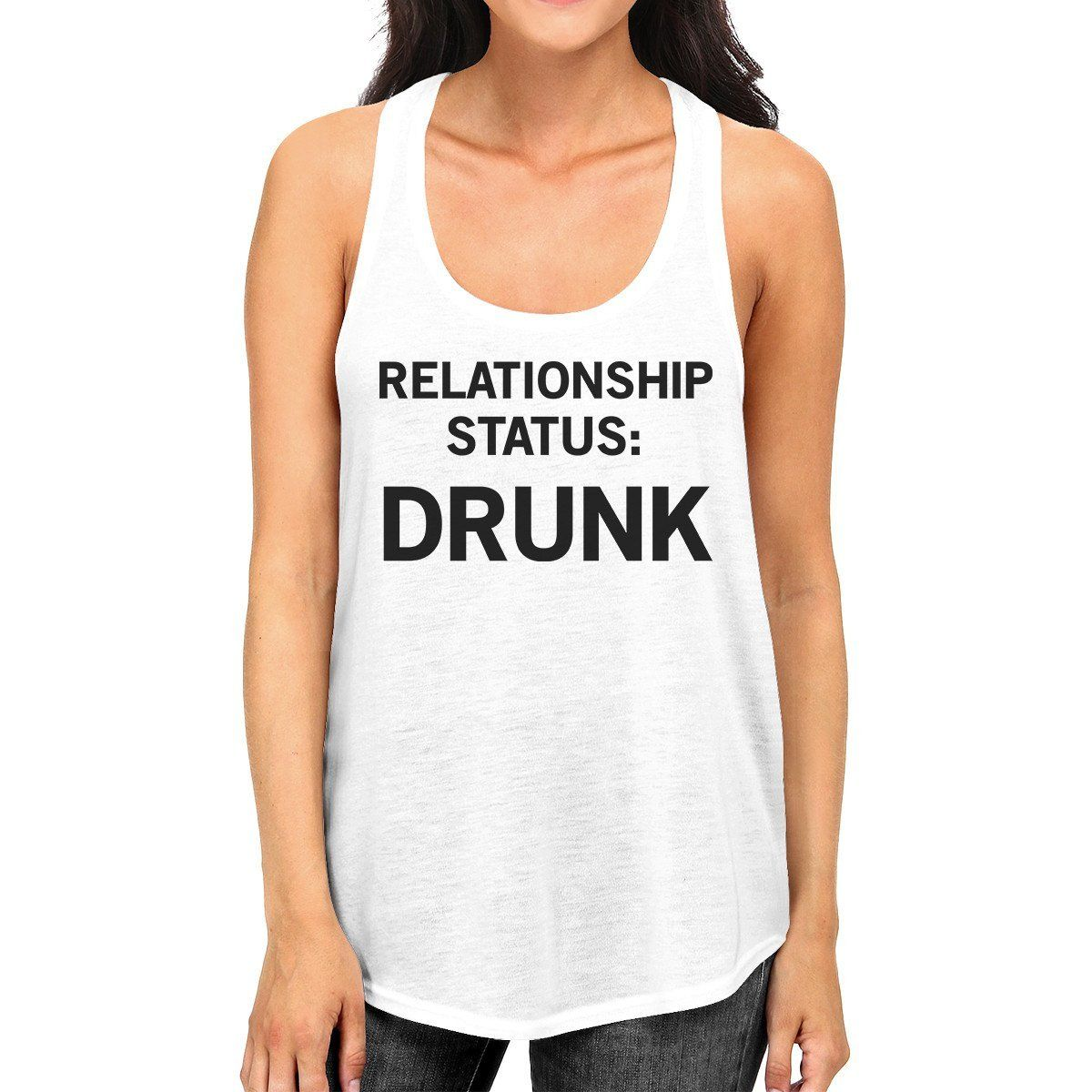 441f62d812 Relationship Status White Graphic Tank Top For Men Witty Gift Ideas Graphic Tank  Tops