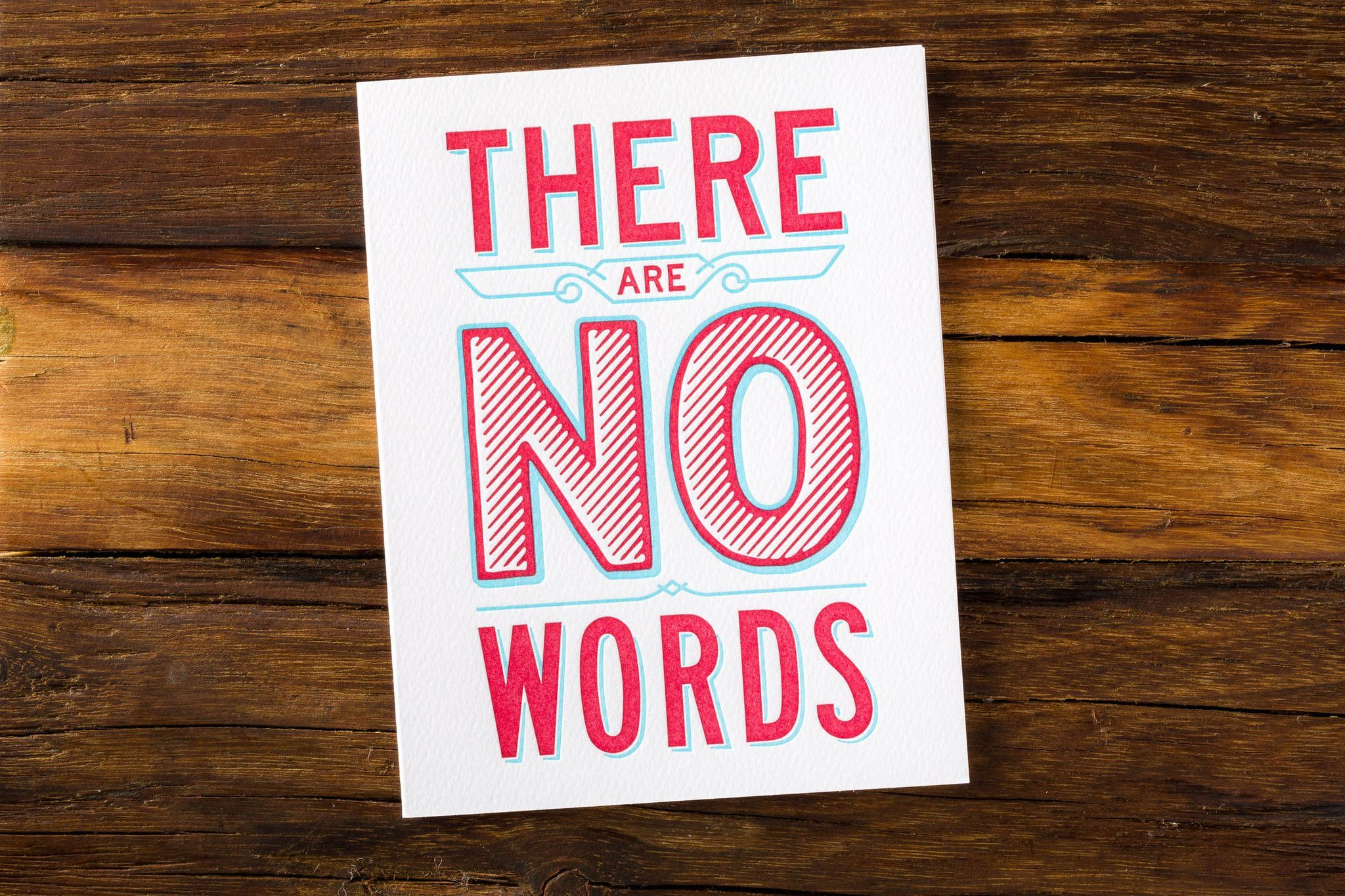 There Are No Words Set of 3 - Letterpress Greeting Card