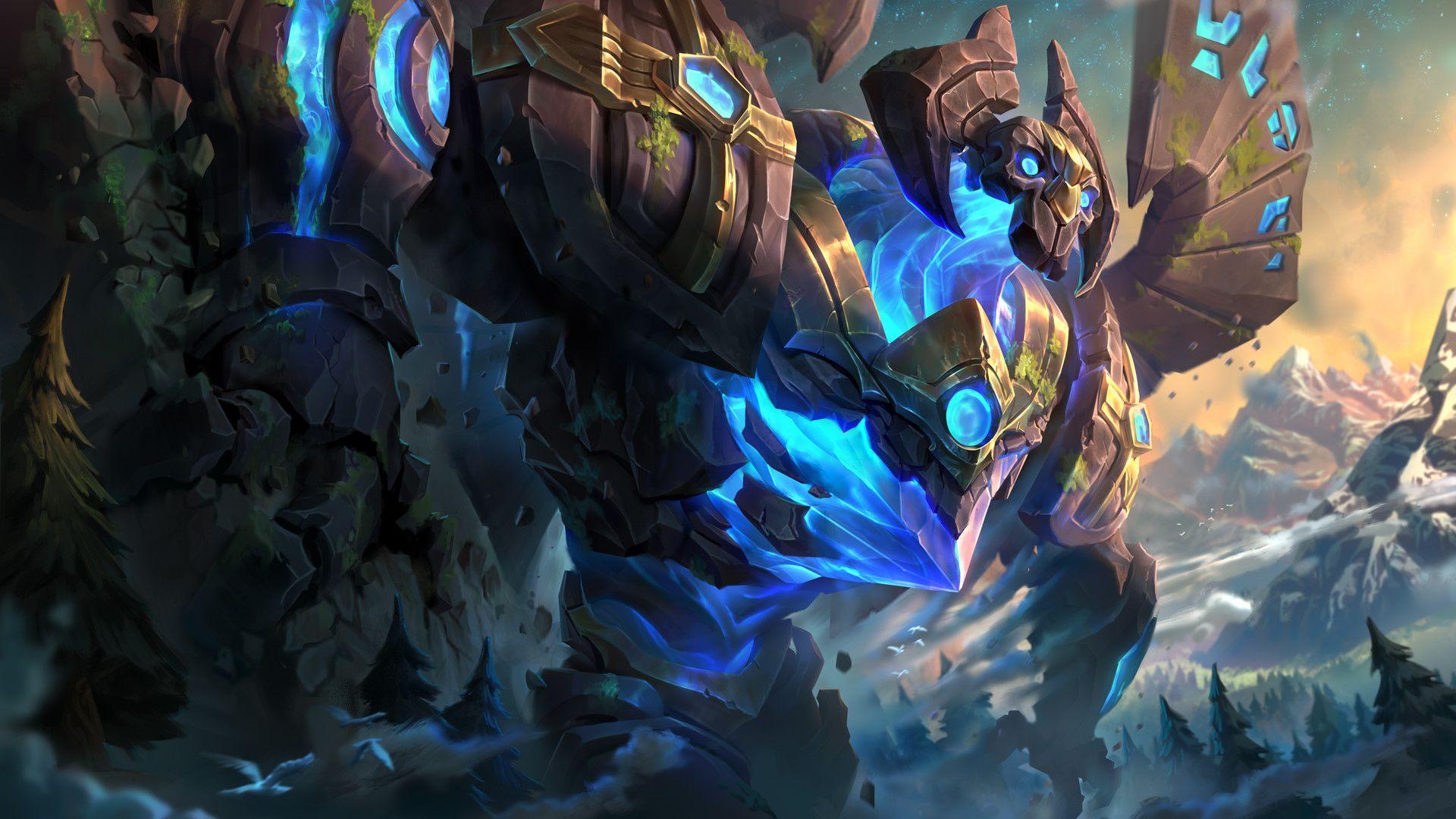 Artstation Enchanted Galio Mike Azevedo League Of Legends League Of Legends Game League Of Legends Characters