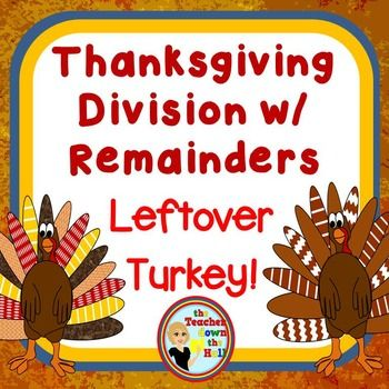 Thanksgiving Math Division With Remainders Color The Remainders Math Division Thanksgiving Math Remainders Thanksgiving division worksheets 5th
