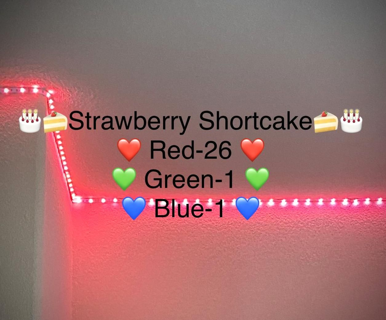 Heres how to make strawberry shortcake on your LED lights