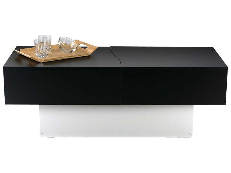 Table basse city box coloris noir blanc vente de table basse et bout de