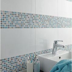 Mosaique Pop Bleu 1 5x1 5 Cm Leroymerlin Salle De Bain Carrelage Salle De Bain Et Mosaique Piscine