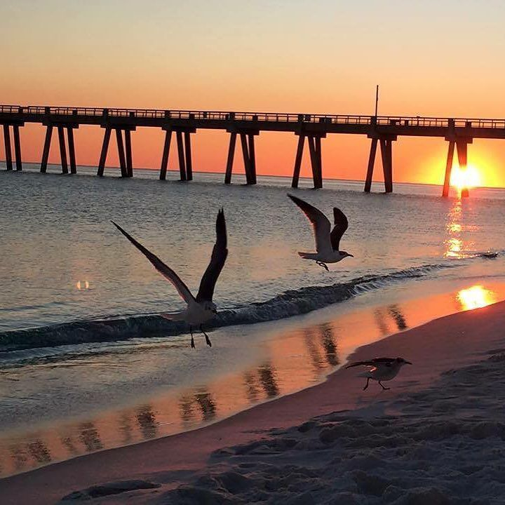 Chilly Winter Sunset Monday Evening At Navarre Beach Photo From Pink Sand Gorgeous