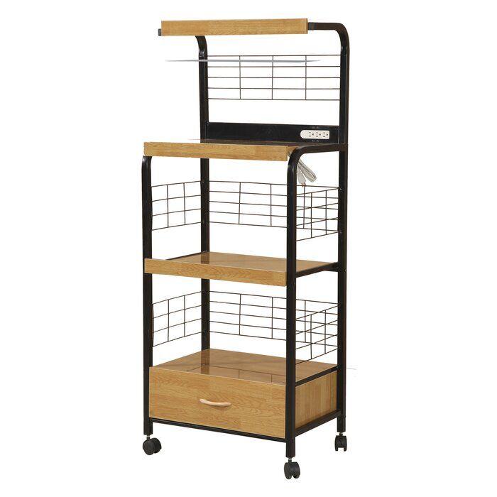 Metal 61 Quot Kitchen Pantry In 2020 Kitchen Cart Hazelwood