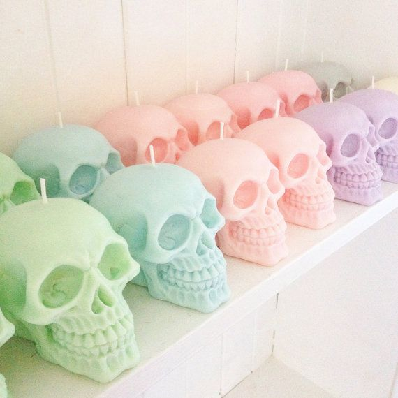 2020 Halloween Parma SKULL CANDY Pastel skull candles Halloween candy scented | Etsy in