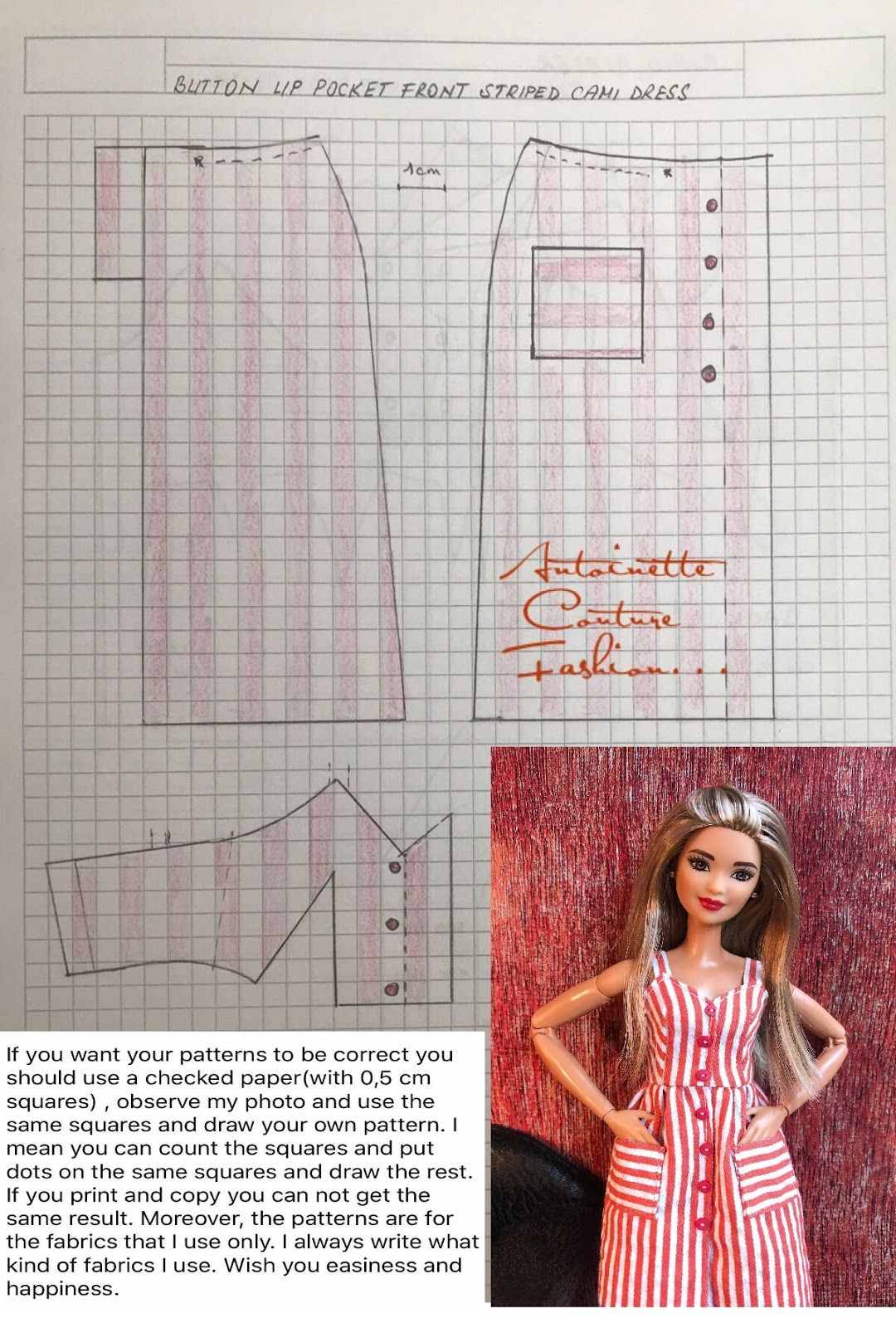 Fashion Dolls Couture - Unlimited: Red goes with everything - Made to Move Barbie - #dolldresspatterns