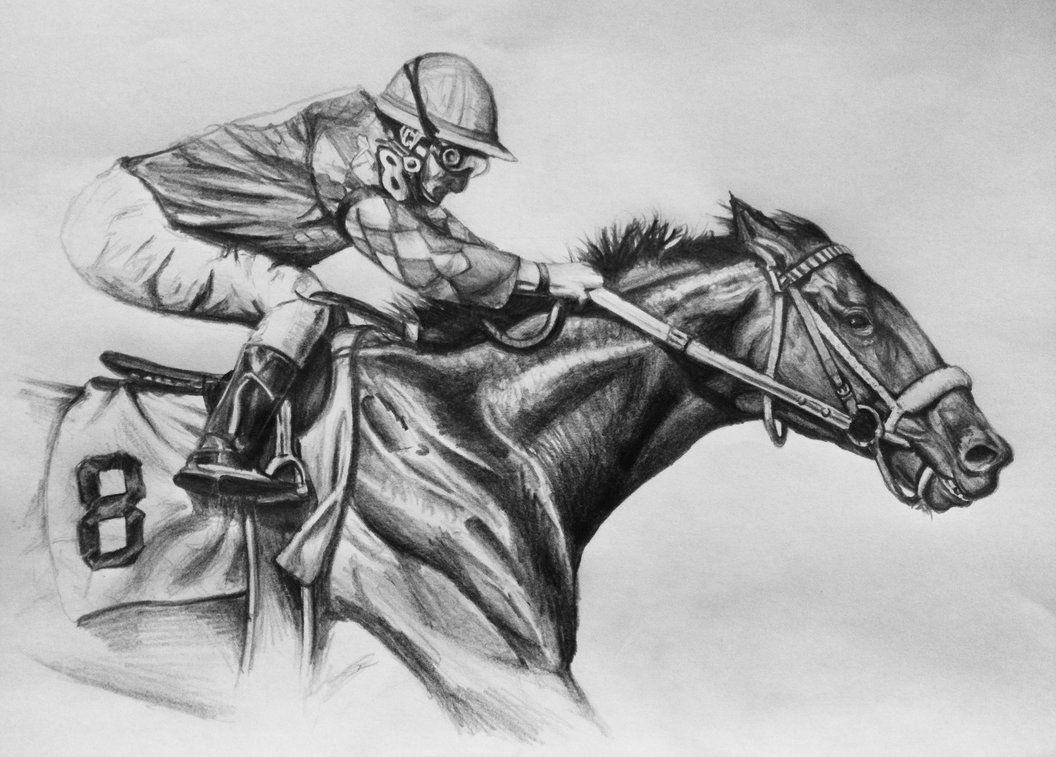 Race Horse By Draigon666 In 2019 Horse Sketch Horse