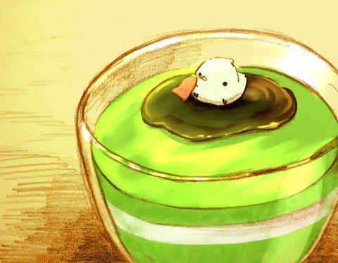 抹茶黒蜜ババロワチャイのイラスト Pixiv すいーとり Cute