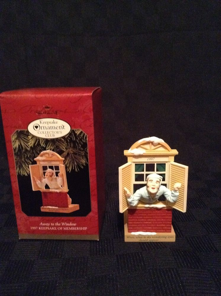 1997 Hallmark Keepsake Away To The Window Man Look See Christmas Tree Ornament