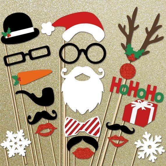 Company Christmas Party Game Ideas Part - 21: Also Felt, Dress Up Game For Young Kids! Adorable Holiday Photo Booth Props  For The Best Christmas Party Ever