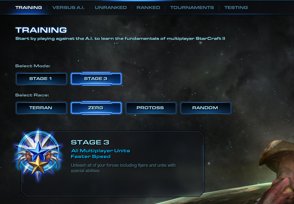 No training stage 2? [Even after restart] #games #Starcraft