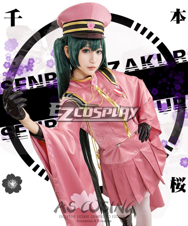 Vocaloid Megurine Luka Senbon Sakura Cosplay Costume Full Set Outfit Full Wig